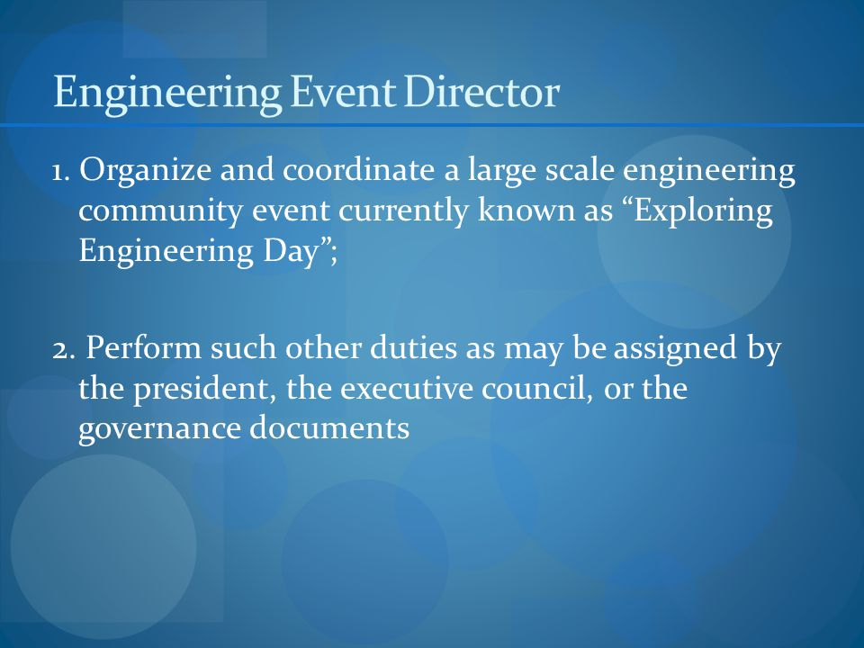 Engineering Event Director 1.