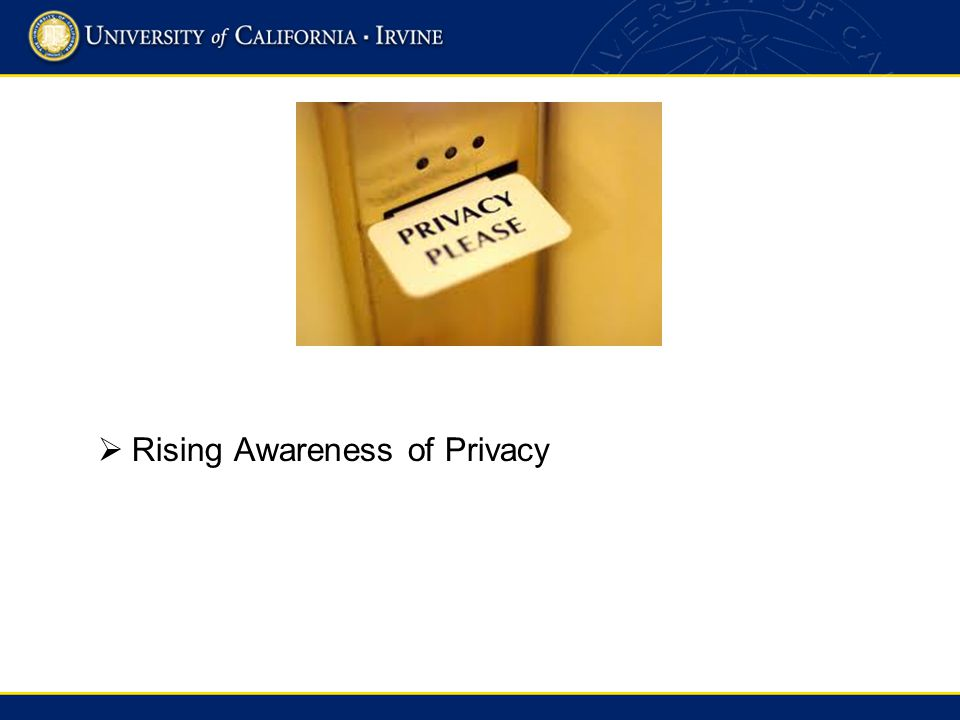 Rising Awareness of Privacy