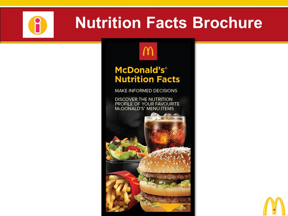 Nutrition Facts Brochure