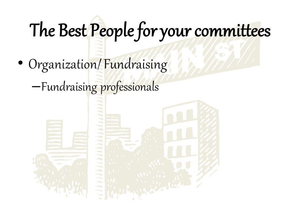 Organization/ Fundraising – Fundraising professionals