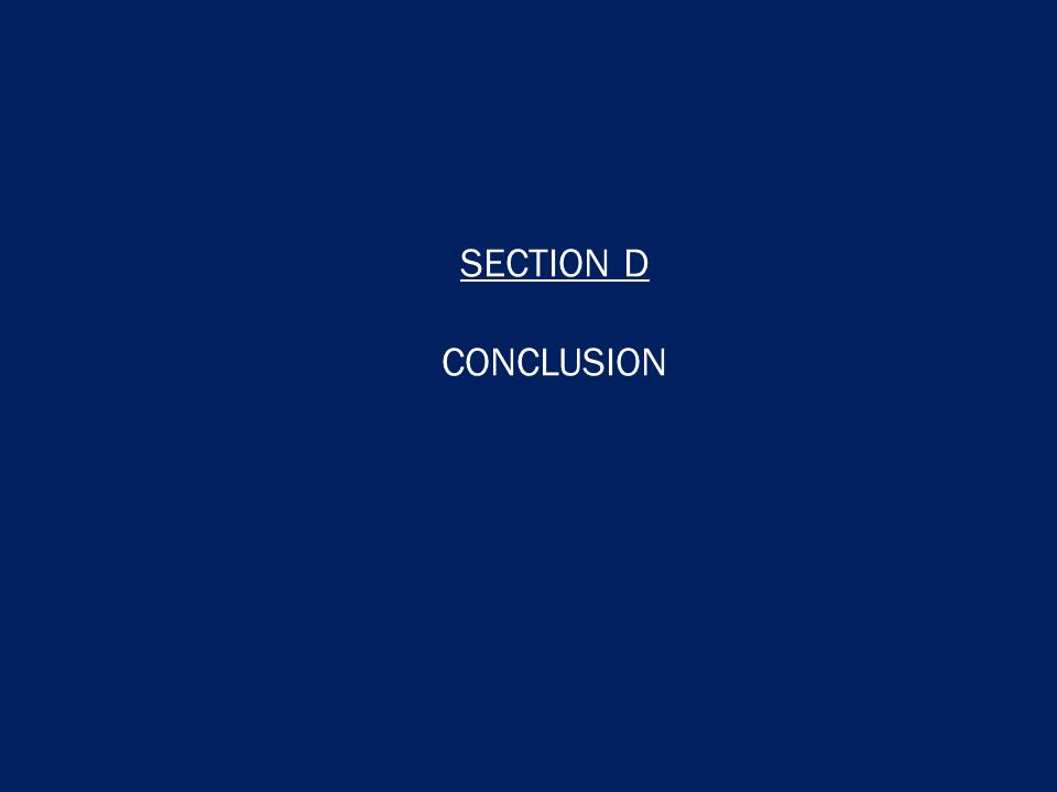 SECTION D CONCLUSION