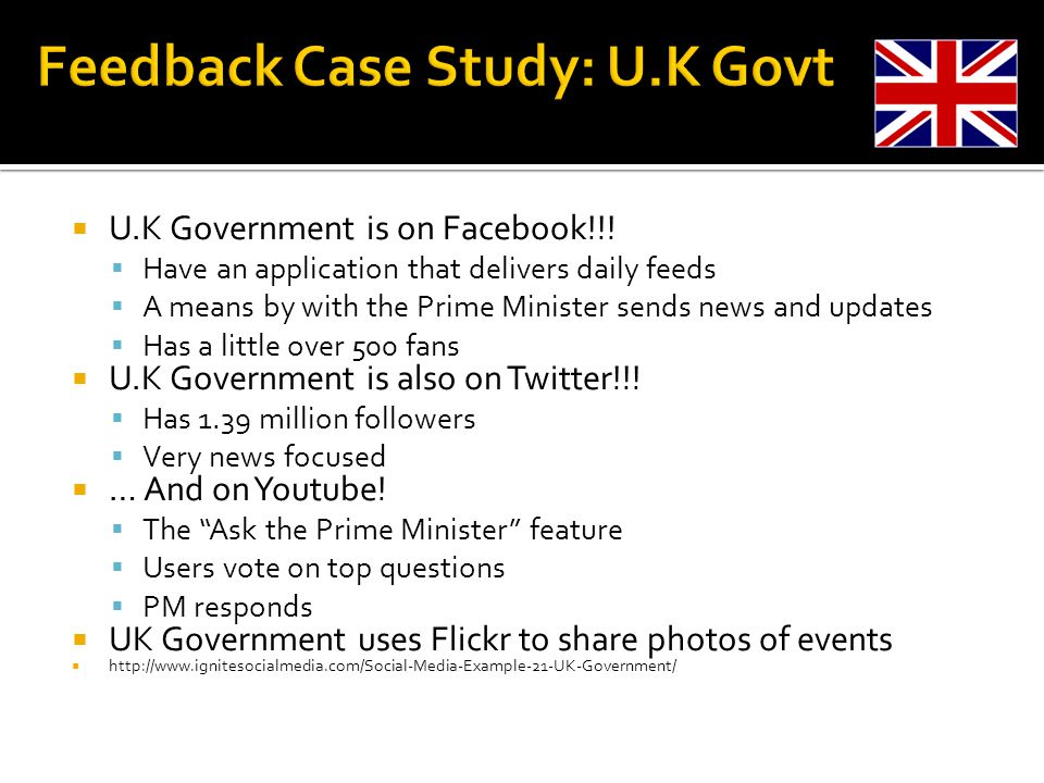 U.K Government is on Facebook!!.