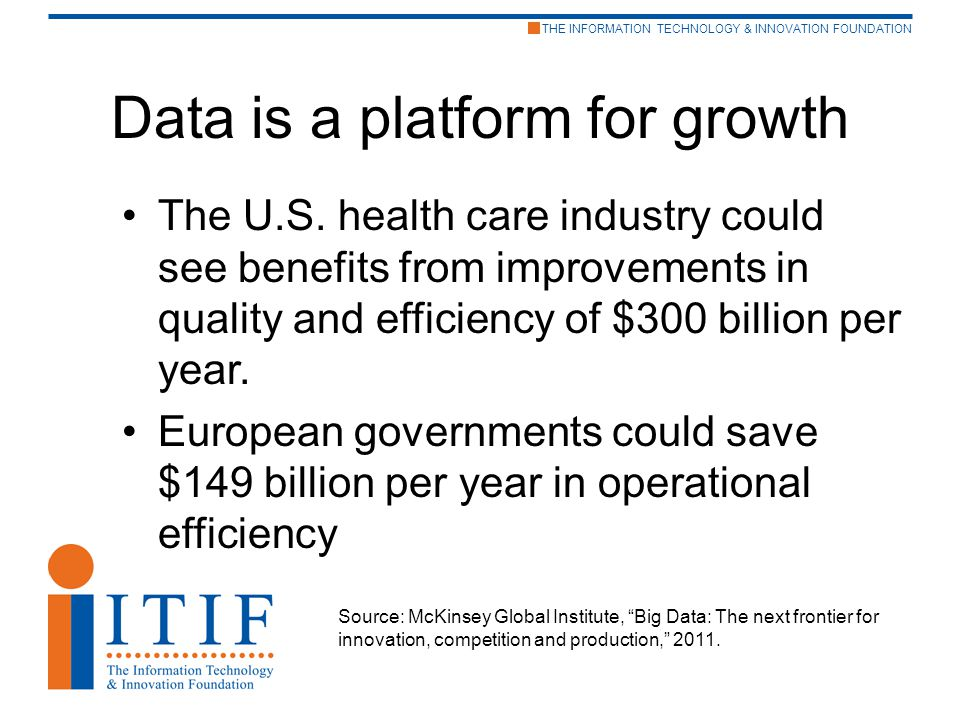 THE INFORMATION TECHNOLOGY & INNOVATION FOUNDATION Data is a platform for growth The U.S.