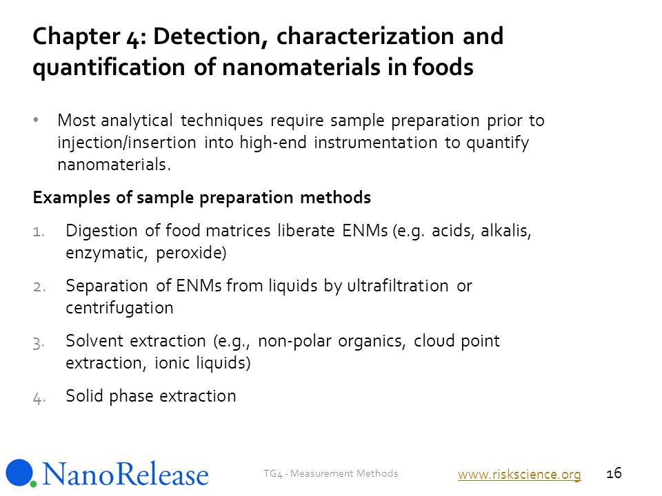 Most analytical techniques require sample preparation prior to injection/insertion into high-end instrumentation to quantify nanomaterials.