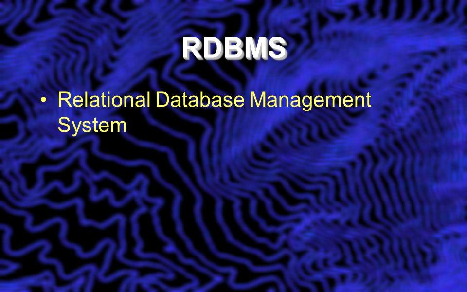 DatabasesDatabases The I in GIS