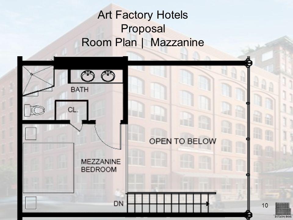 10 Art Factory Hotels Proposal Room Plan | Mazzanine