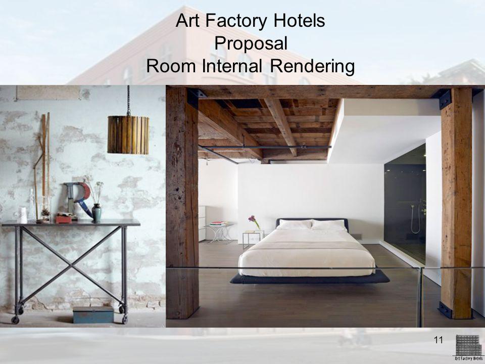11 Art Factory Hotels Proposal Room Internal Rendering