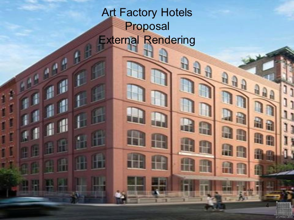 4 Art Factory Hotels Proposal External Rendering