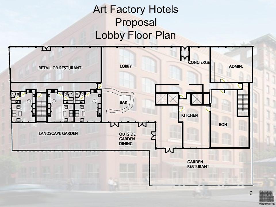 6 Art Factory Hotels Proposal Lobby Floor Plan