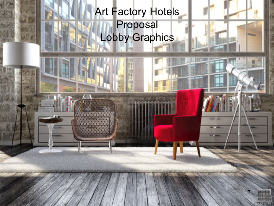 7 Art Factory Hotels Proposal Lobby Graphics