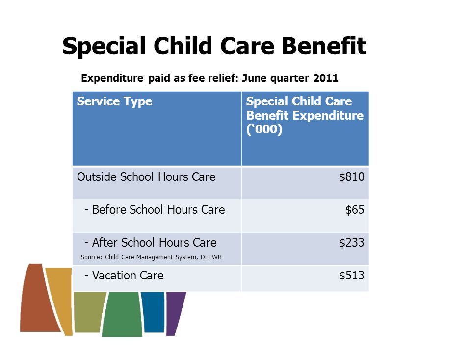 Support for services include: Child Care Services Support Program, which incorporates: Community Support Program Inclusion and Professional Support Program Support for OSHC services