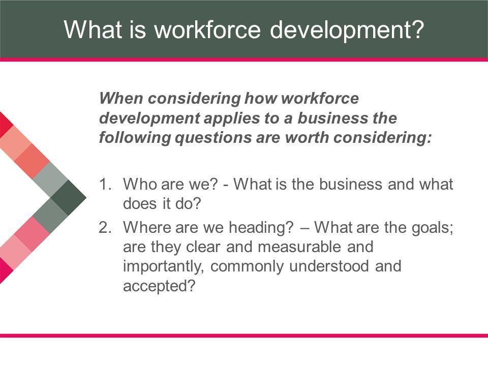 What is workforce development.