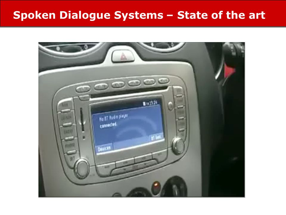 Spoken Dialogue Systems – State of the art