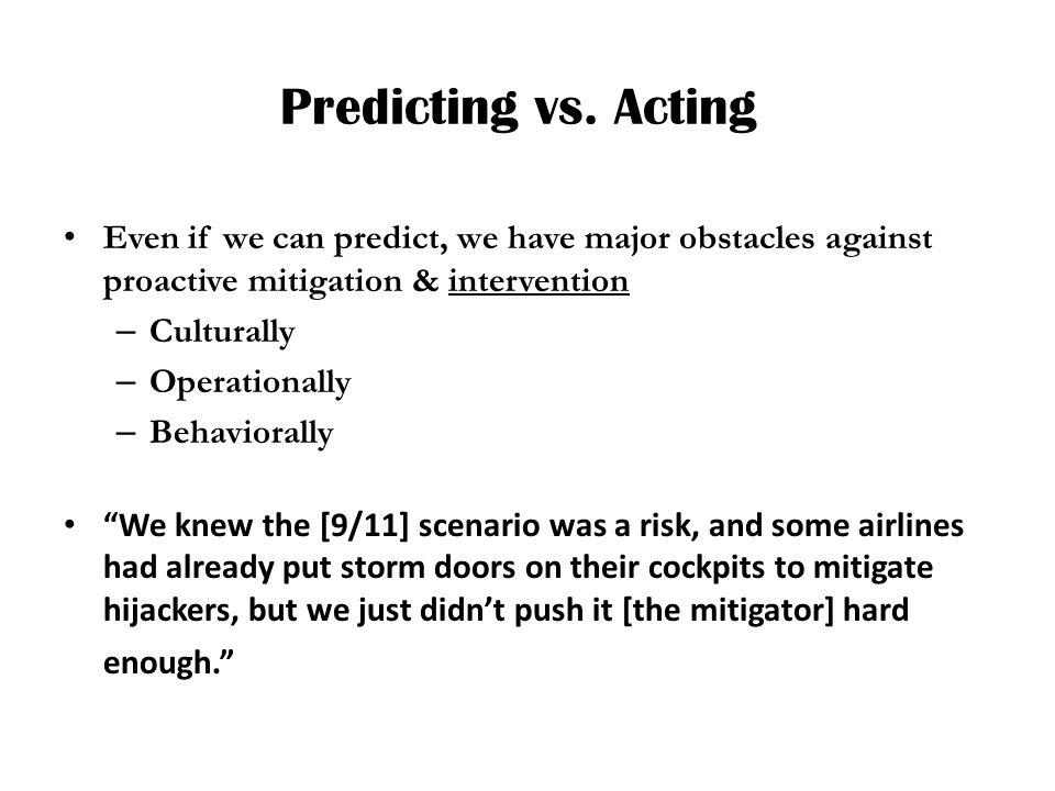 Predicting vs.