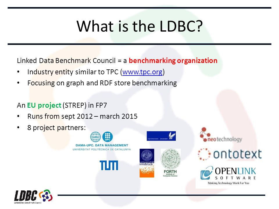 What is the LDBC.