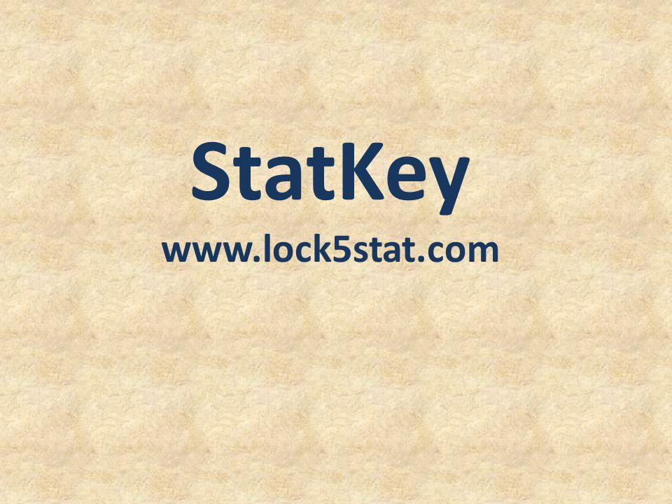 StatKey www.lock5stat.com