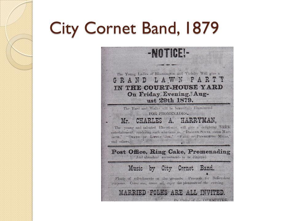 City Cornet Band, 1879