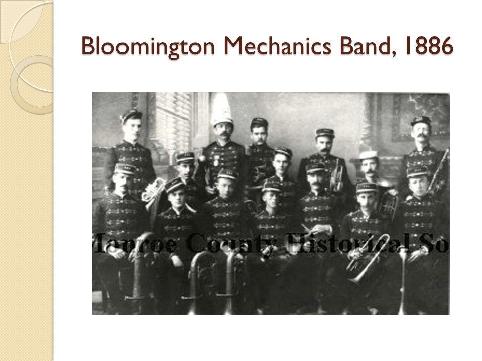 Bloomington Mechanics Band, 1886
