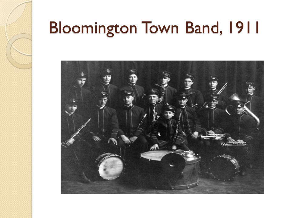 Bloomington Town Band, 1911