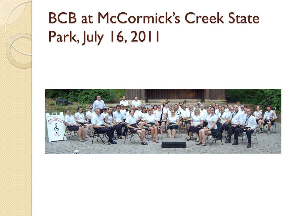BCB at McCormicks Creek State Park, July 16, 2011