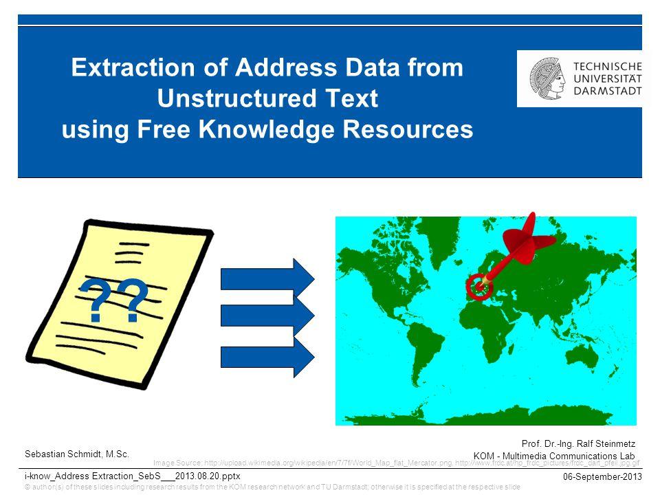 KOM – Multimedia Communications Lab22 1.Motivation Why Business Address Data.