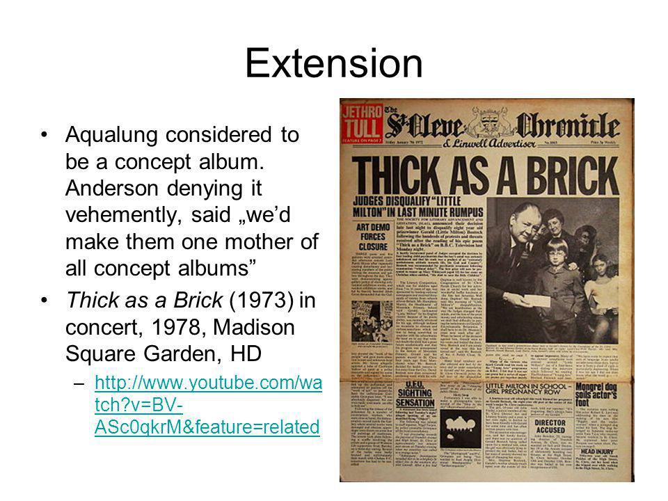 Extension Aqualung considered to be a concept album.