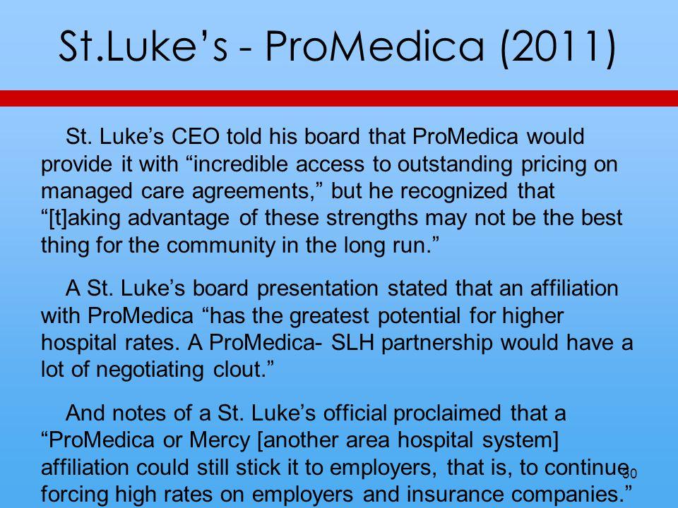 St.Lukes - ProMedica (2011) St.