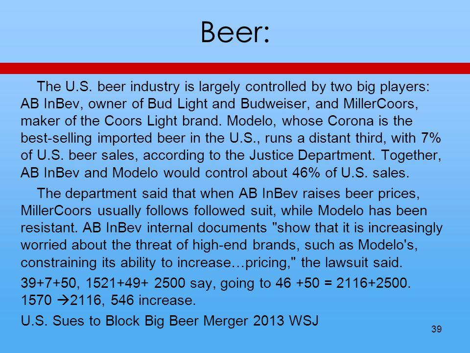 Beer: The U.S.