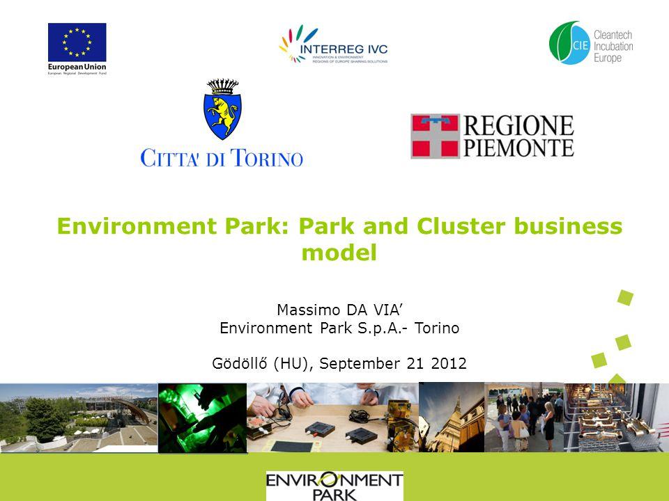 Environment Park: Park and Cluster business model Massimo DA VIA Environment Park S.p.A.- Torino Gödöllő (HU), September 21 2012