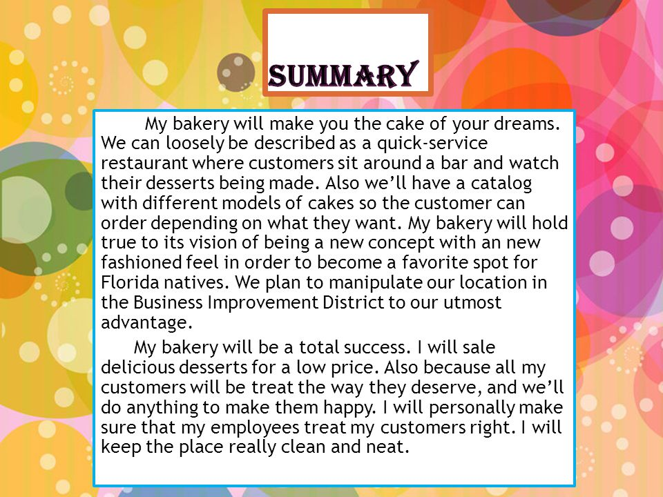 In my bakery I will have a TV, computers, phones, and cash register.