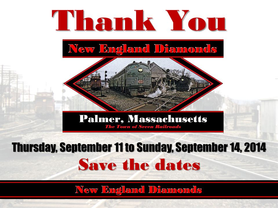 Thank You Thursday, September 11 to Sunday, September 14, 2014 Save the dates