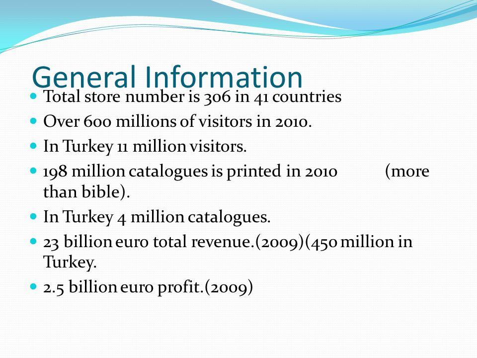 General Information cont 127.000 employees worldwide.
