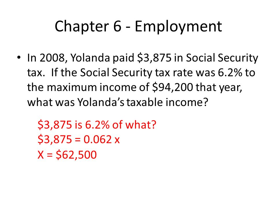 Chapter 6 - Employment In 2005, Lee began working as a nurse anesthetist with a taxable income of $100,000.
