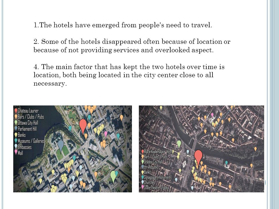 1.The hotels have emerged from people s need to travel.