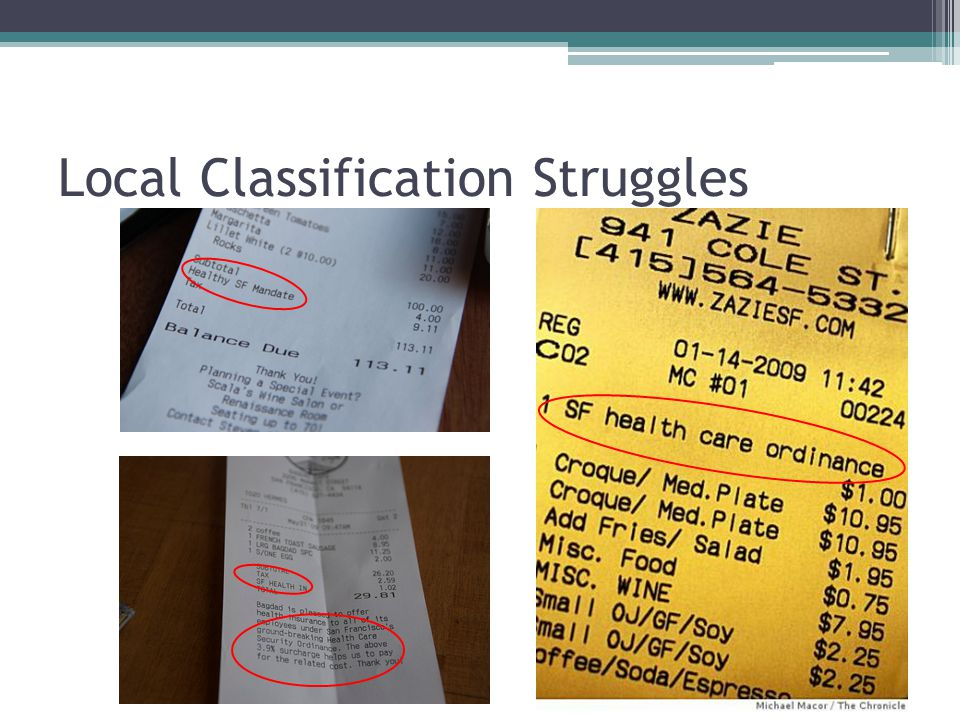 Local Classification Struggles