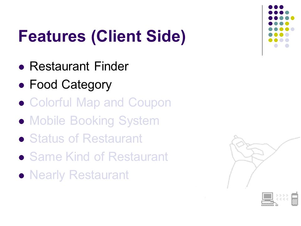 Restaurant Finder & Food Category