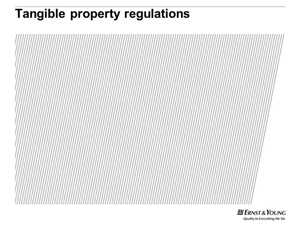 Tangible property regulations