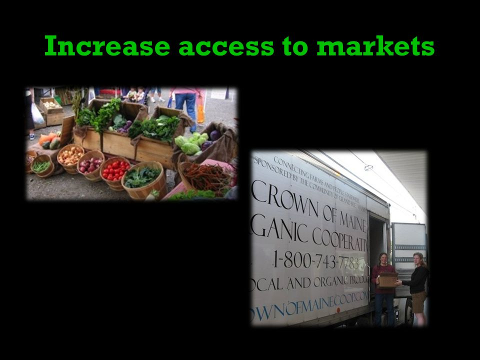 Increase access to markets