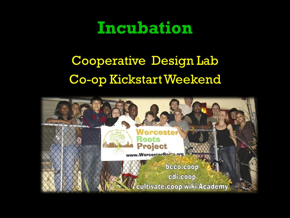 Incubation Cooperative Design Lab Co-op Kickstart Weekend
