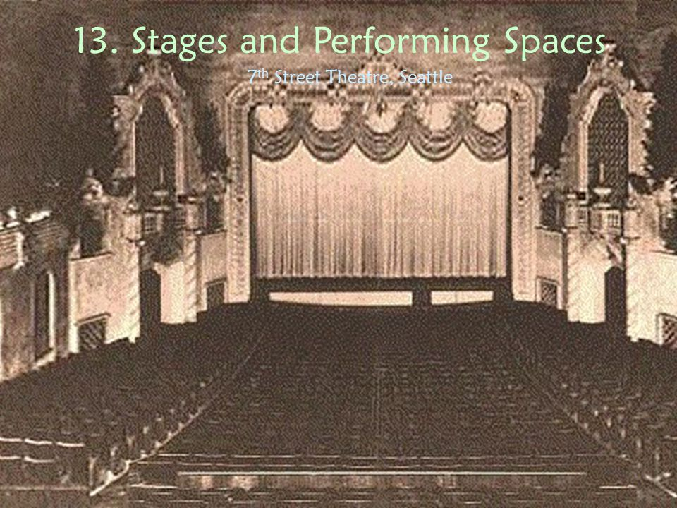 12. Stages and Performing Spaces Old Vic, London
