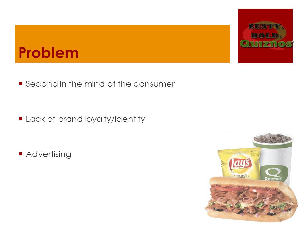 Problem Second in the mind of the consumer Lack of brand loyalty/identity Advertising