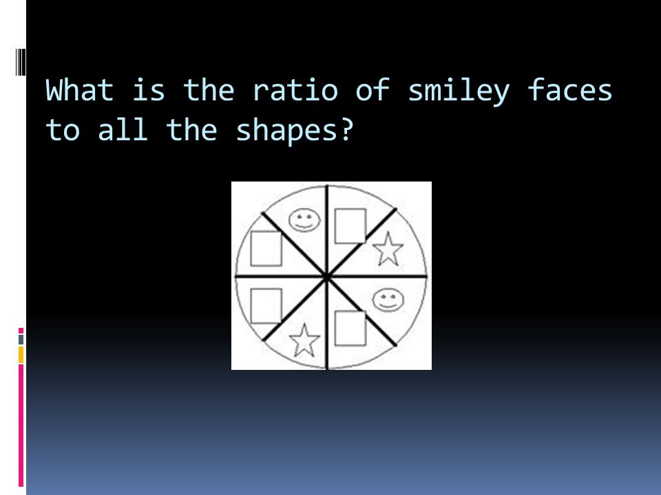What is the ratio of smiley faces to all the shapes?