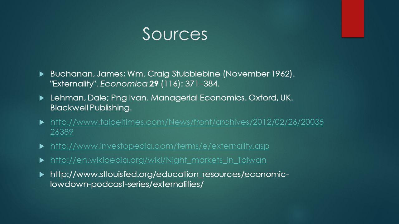 Sources Buchanan, James; Wm. Craig Stubblebine (November 1962).