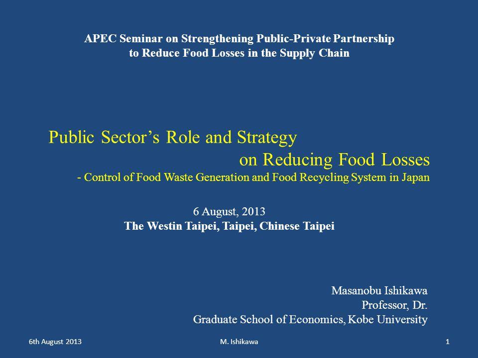 1.Food waste material flows 2. Major development of food waste policies 3.