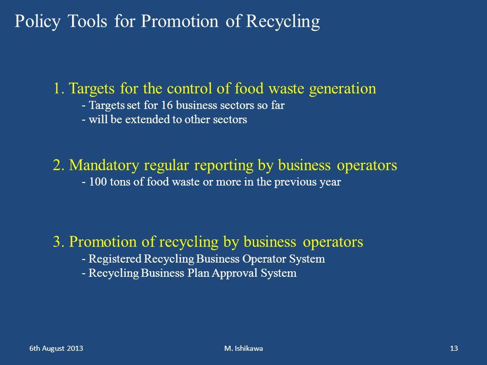 1.Objectives - Development of good recycle operators 2.
