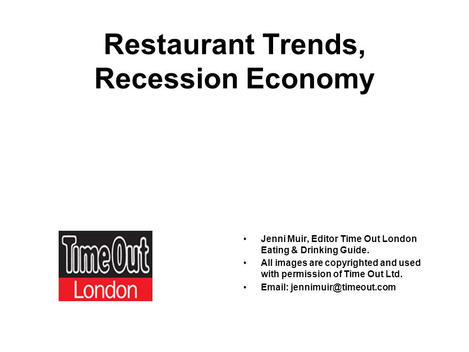 Whats happening, and likely to happen in the world of restaurants Trends relevant to food manufacturers and retailers