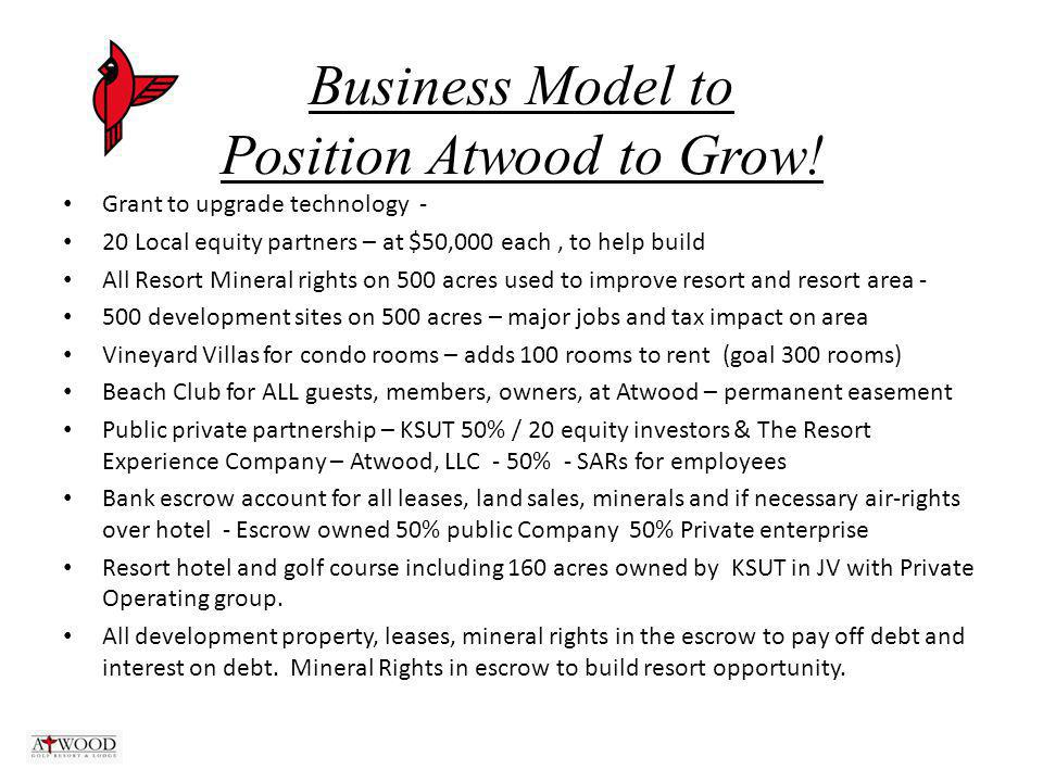 Business Model to Position Atwood to Grow.