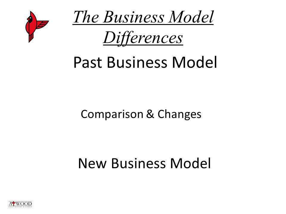 The Business Model Differences Past Business Model Comparison & Changes New Business Model