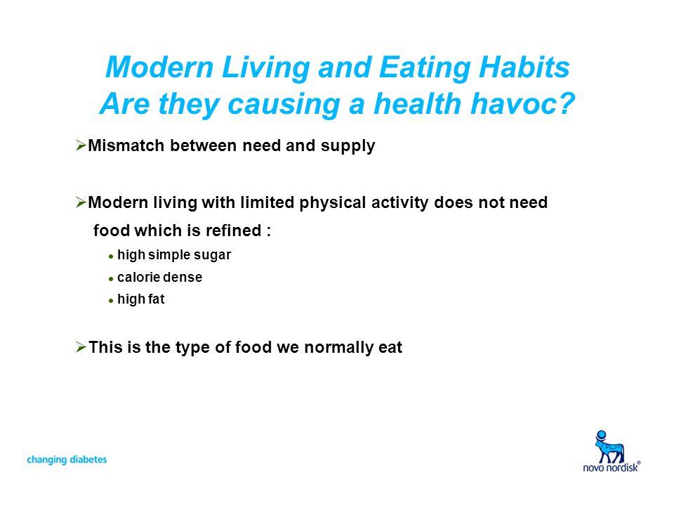 Modern Diet The result…rising prevalence of : Heart disease Diabetes High Blood Pressure Obesity