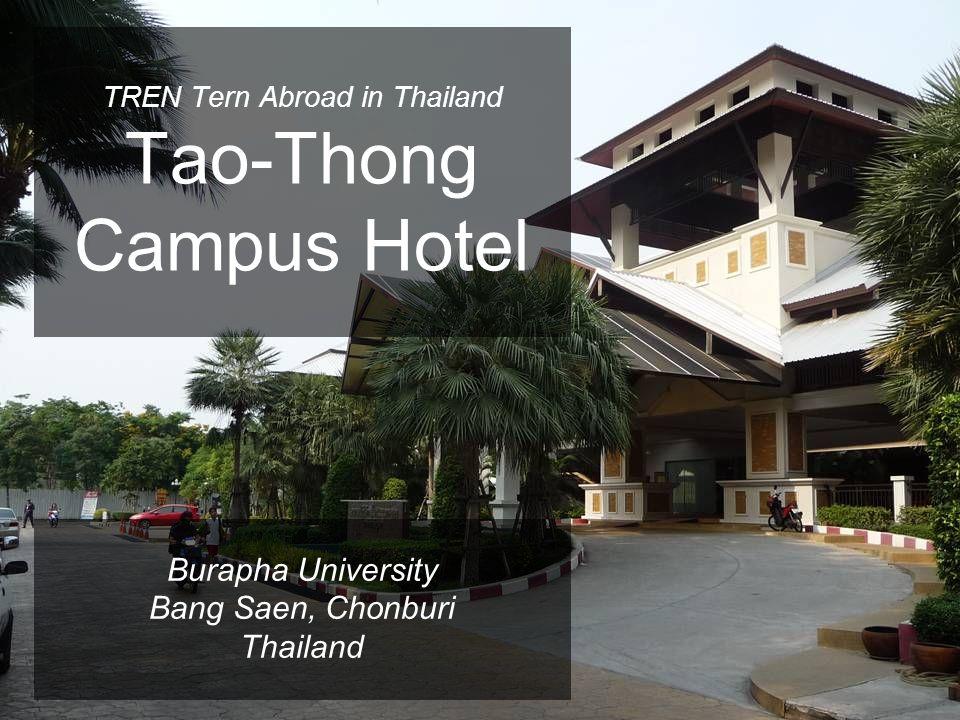 TREN Tern Abroad in Thailand Tao-Thong Campus Hotel Burapha University Bang Saen, Chonburi Thailand